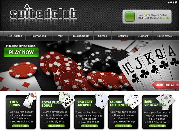 Poker site design